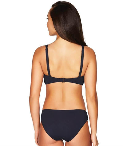 Sea Level Essentials Cross Front B-DD Cup Bikini Top - Night Sky Navy Swim