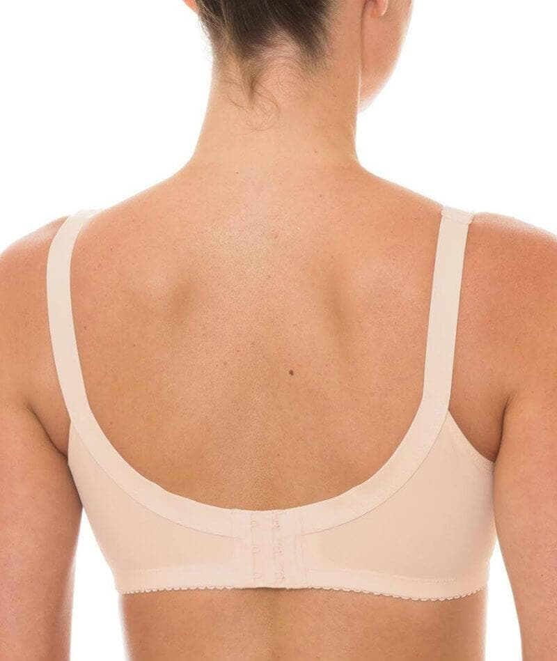 Triumph Kiss of Cotton Wire Free Bra - Fresh Powder - Front
