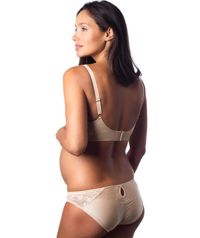 hotmilk My Necessity Nursing Sleep/Hospital Bra - Nude - Back