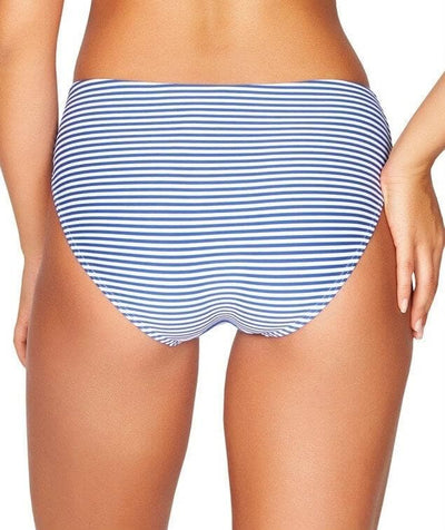 Sea Level Sorrento Stripe Mid Bikini Brief - French Blue - Back