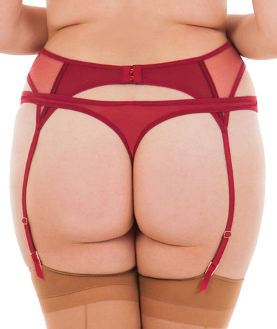 Scantilly Peek A Boo Thong - Red Knickers