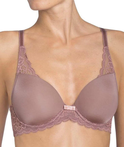 Triumph Amourette Spotlight Balconette T-Shirt Bra - Brown - Light Combination Bras 10B