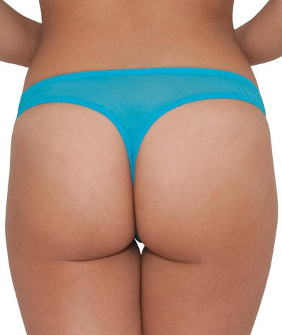 "Curvy Kate Portia G-String - Aqua ""Back"""