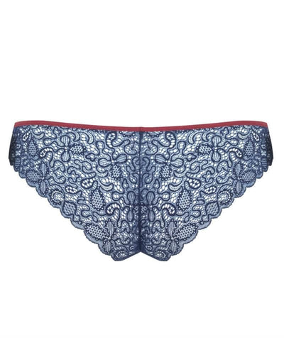 Curvy Kate Ellace Brazilian - Navy/Wine Knickers