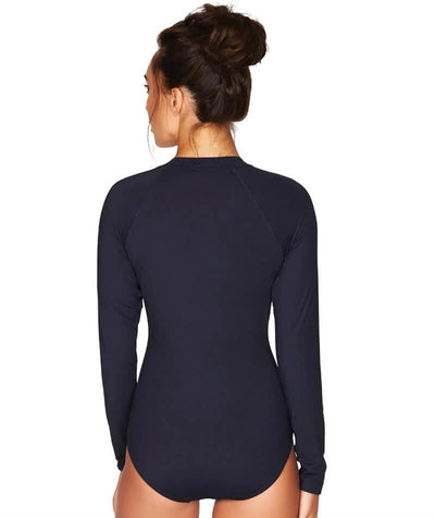 Sea Level Essentials Long Sleeve B-DD Cup One Piece Swimsuit - Night Sky Navy - Back