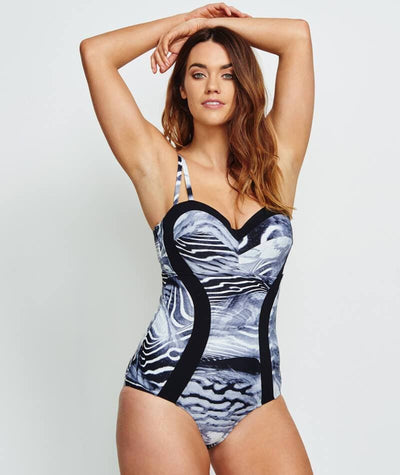 Robyn Lawley Bella Notte D/DD Cup One Piece - Black Sea Swim