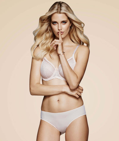 Triumph Sheer Balconette Bra - Nude Pink - Model - 2