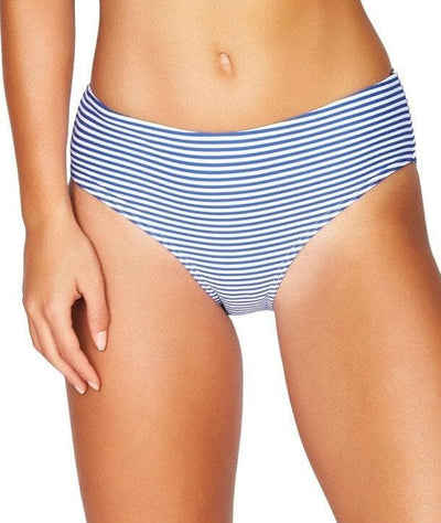 Sea Level Sorrento Stripe Mid Bikini Brief - French Blue - Front