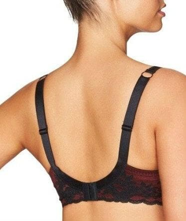 Fayreform Sophia Underwire Bra - Black/Windsor Wine - Back