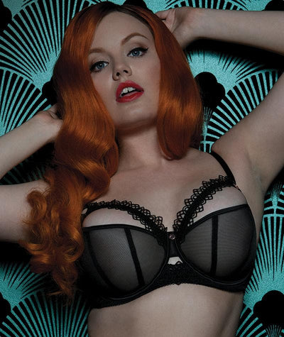 "Scantilly Vamp Bra - Black ""front"""