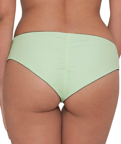 Curvy Kate Peachy Pairs Reversible Short - Black / Lime Swim