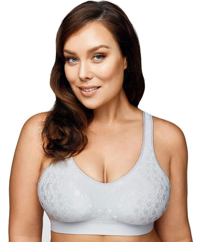 Playtex Comfort Revolution Dot Wire Free Bra - Crystal Grey Bras S