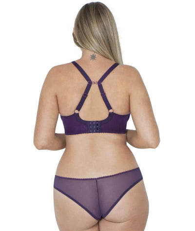 Curvy Kate Smoothie Soul Brazilian Brief - Purple/Sangria - Model - Back