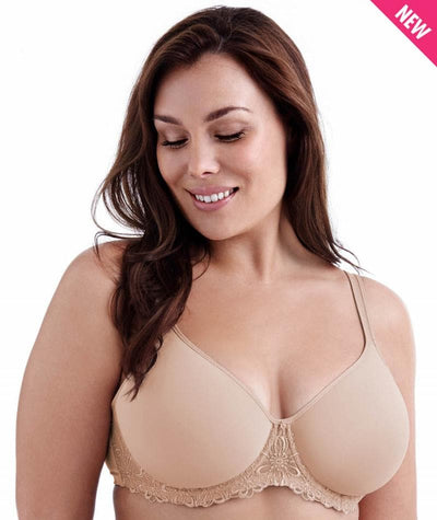Playtex Ultralite Embroidered Frame Bra - Nude Bras 14B