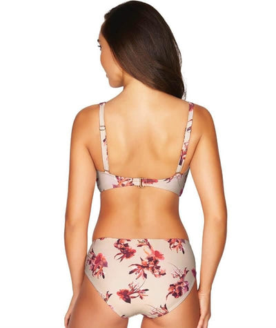Sea Level Exotic Blooms Mid Bikini Brief - Stone - Model - Back
