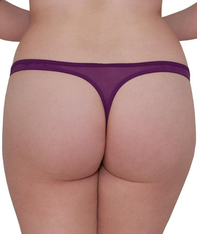 "Scantilly Peek A Boo Thong - Violet ""back"""