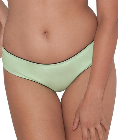 "Curvy Kate Peachy Pairs Reversible Short - Black / Lime ""Front"""