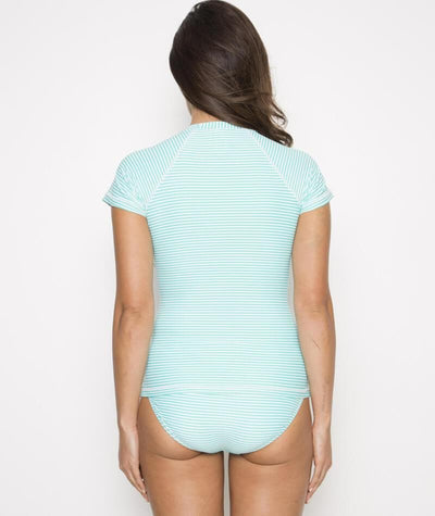 Nip Tuck Multifit Short Sleeve Stripe Rashi- Mint/White - Back