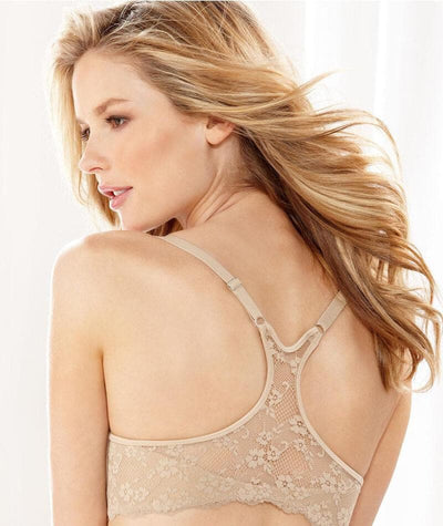 "Playtex Maidenform One Fab Fit Extra Coverage Lace T-Back Bra ""back"""