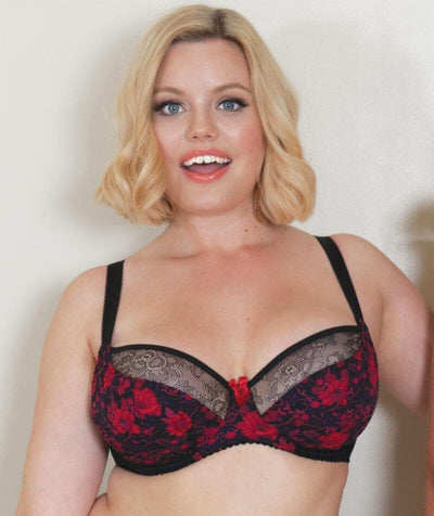 Curvy Kate Poppy Balcony Bra - Print Mix - Model - 2