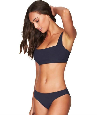 Sea Level Riviera Rib Square Neck A-D Cup Bikini Top - Night Sky Navy - Model - Side