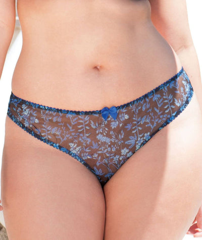 Curvy Kate Sheer Joy Brazilian - Black Print