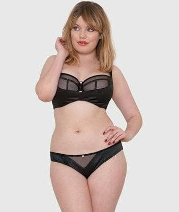 Scantilly Peek A Boo Brief - Black Knickers
