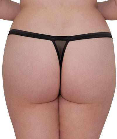 Scantilly Vamp Thong - Black Knickers