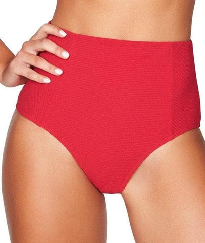Sea Level Riviera Rib High Waist Brief - Red Swim 8