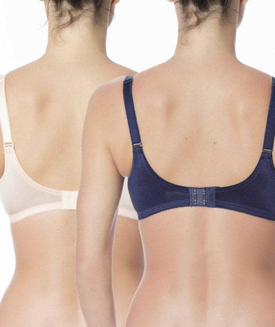 Triumph Embroidered Minimiser Bra 2 Pack - Orange Dark Combination - Back