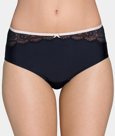 Triumph Contouring Sensation Midi Brief - Black - Front View