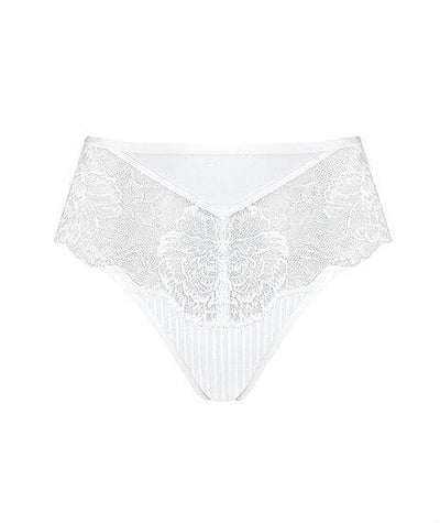 Florale Peony Maxi Brief - White Knickers
