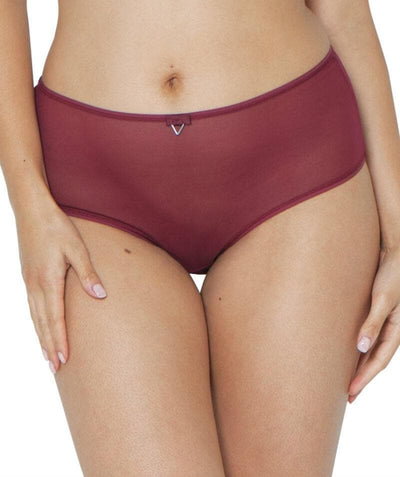 Curvy Kate Victory Short - Wine - Front