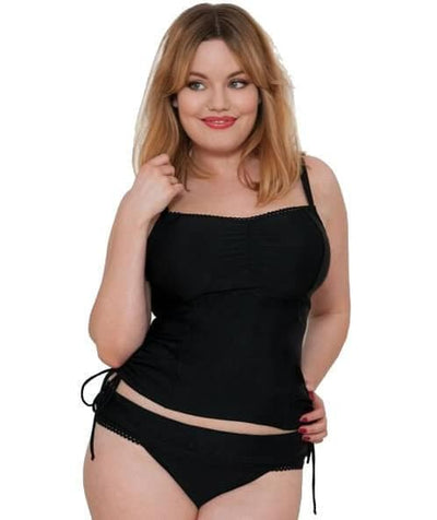 Curvy Kate Jetty Balcony Tankini Top - Black Swim 8D