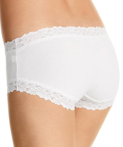 Jockey Parisienne Cotton Boyleg - White