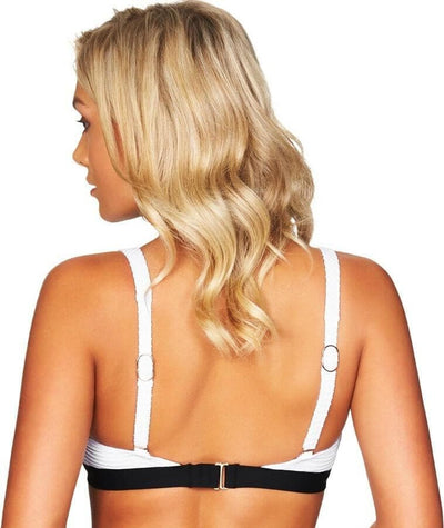 Sea Level San Sebastian Tri Bikini Top - Black/White - Back