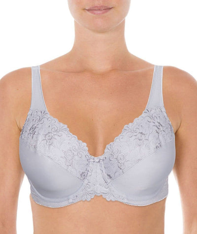 Triumph Embroidered Minimiser Bra - Smoky Lilac