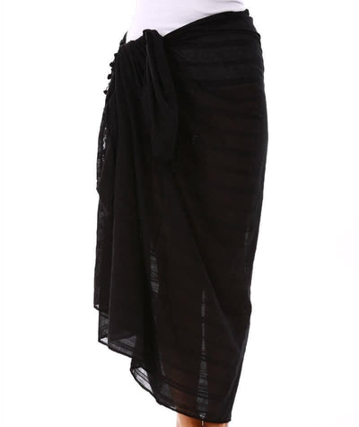 Capriosca Beach Cover Up Sarong - Black