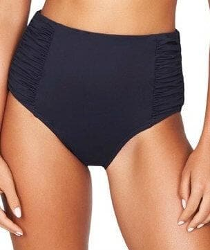 Sea Level Plains Gathered Side High Waist Brief - Night Sky Navy - Front