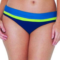 Curvy Kate Maya Fold Over Brief - Blue Mix