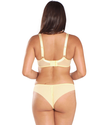 Curvy Kate Princess Plunge Bra - Lemon - Model - Back