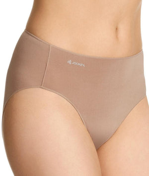 Jockey No Panty Line Promise Tactel Hi Cut Brief - Flesh Knickers 10
