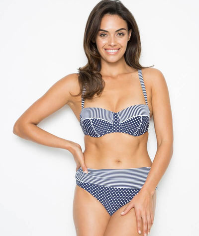 Nip Tuck Sorrento Splice Roll Band Brief - Navy/White Swim 10