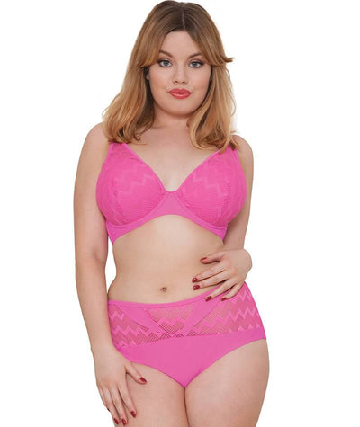 "Cuvy Kate Hi Voltage Brief Shocking Pink ""Front"""