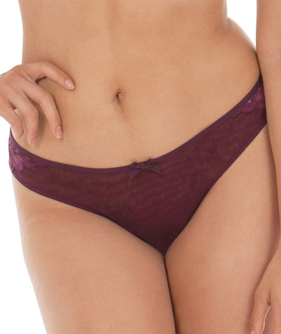Curvy Kate Ellace Brazilian - Mulberry Knickers 10