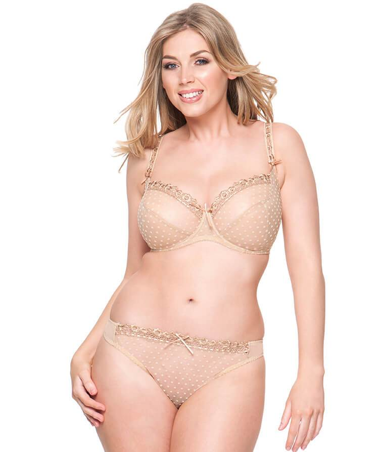 0d1268d18 Curvy Kate Princess Balcony Bra - Nude - Model - Front - 3