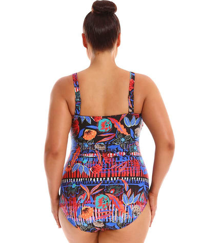 Capriosca Twist Front Bandeau One Piece - Boho Folk Swim