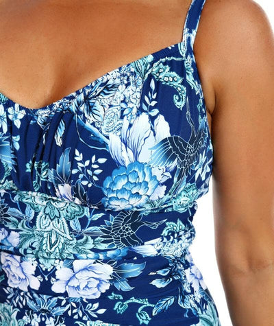 Capriosca Underwire One Piece Swimsuit - Crane Birds - Detail