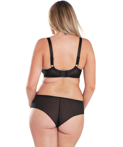 Curvy Kate Dottie Balcony Bra - Black - Model - Back
