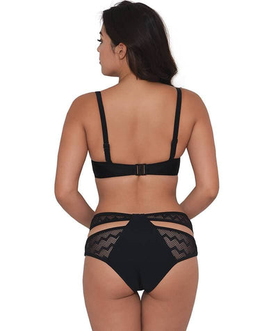 Curvy Kate Hi Voltage Strappy Mini Brief - Black Swim